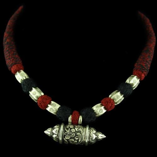 Oxidized Thread Necklace