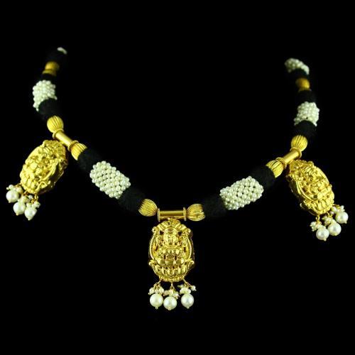 Lakshmi Design Necklace With Pearl