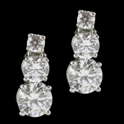 Swarovski Partywear Drops Silver Earring