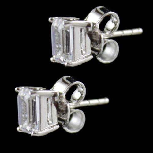 Swarovski Partywear Casual Silver Earring