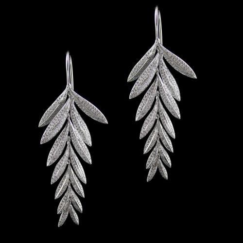 Swarovski Leaf Hanging Earrings