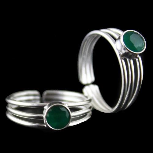 Green Stone Toe Ring