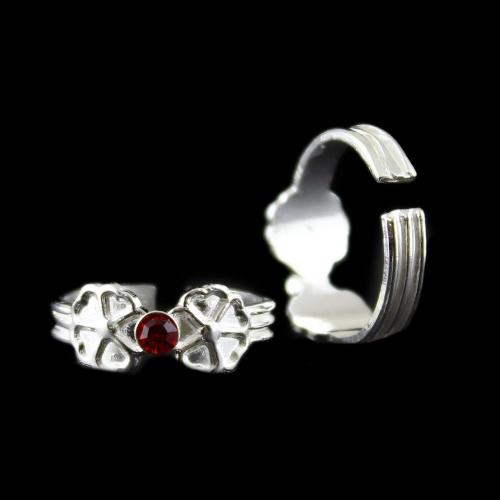 RED STONE TRADITIONAL TOE RING