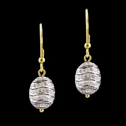 Gold Plated Zircon Stone Hanging Earring