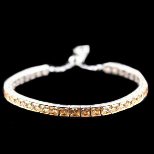 Zircon Champion Stone Party Wear Channel Bracelets