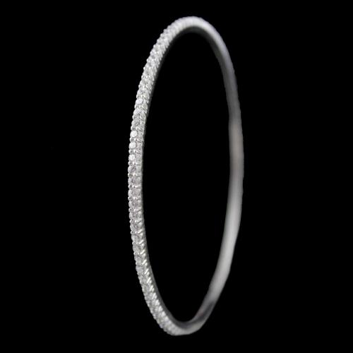 Zircon Stone Single Line Casual Bangle
