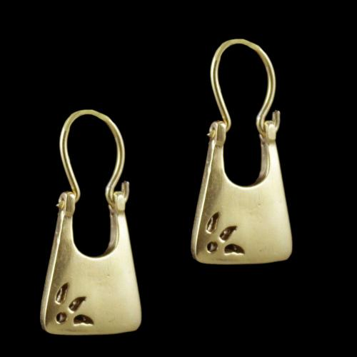 Gold Plated Floral Design Bali Casual Wear Earrings