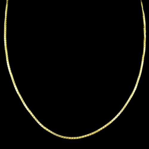 Gold Plated Casual Wear Silver Chain