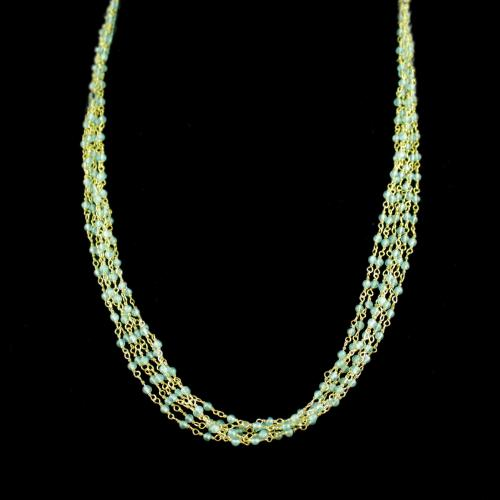 Apatite Beads Bunch Necklace