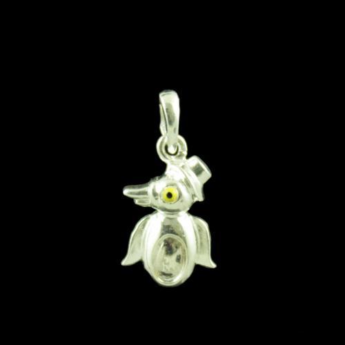 Penguin Casual Wear Silver Baby Pendant