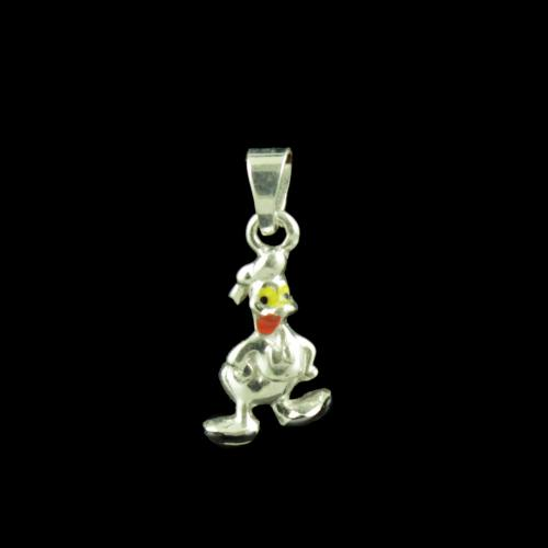Duck Casual Wear Silver Baby Pendant