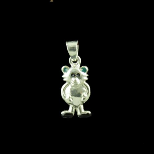 Bear Casual Wear Silver Baby Pendant