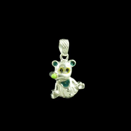Puppy Dog Casual Wear Silver Baby Pendant
