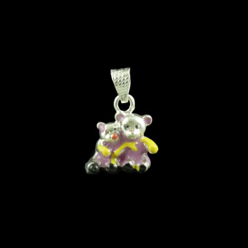 Micky Mouse Pair Casual Wear Silver Baby Pendant