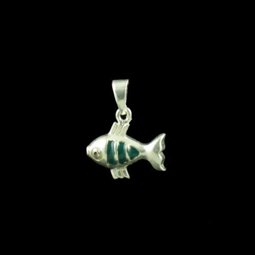 Fish Casual Wear Silver Baby Pendant