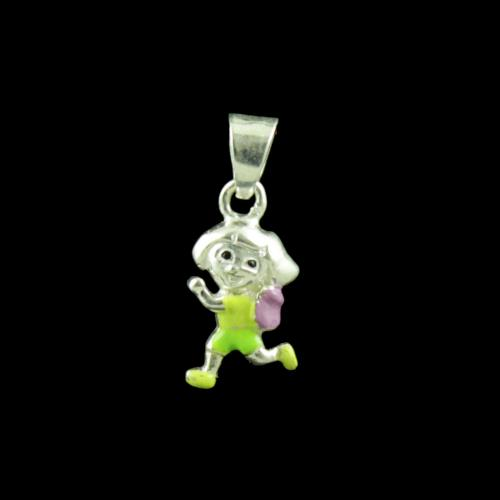 Donald Duck Casual Wear Silver Baby Pendant