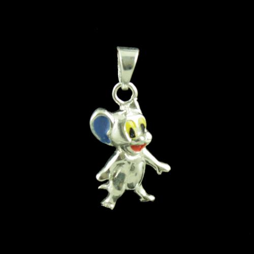 Jerry Mouse Casual Wear Silver Baby Pendant