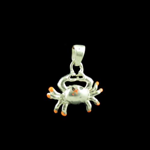 Crab Casual Wear Silver Baby Pendant