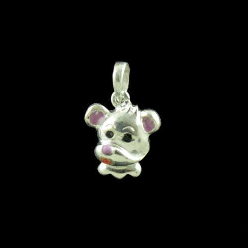 Teddy Bear Casual Wear Silver Baby Pendant