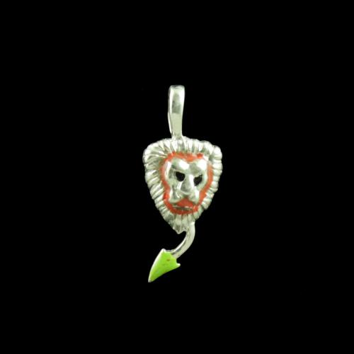 Lion Casual Wear Silver Baby Pendant