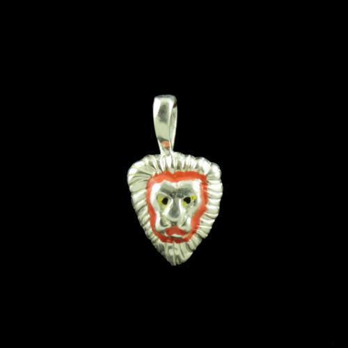 Lion Casual Wear Silver Baby Pendant