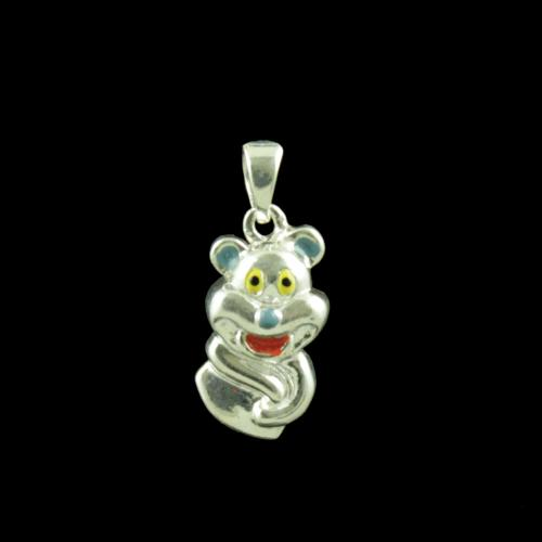 Teddy Bear Casual Wear Silver Baby Pendant