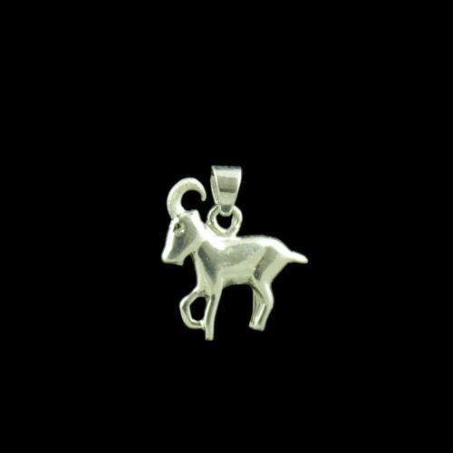 Zodiac Aries Silver Pendant