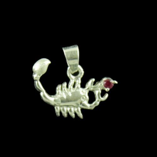 Zodiac Scorpio Silver Pendant