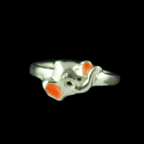 Silver Baby Elephant Ring