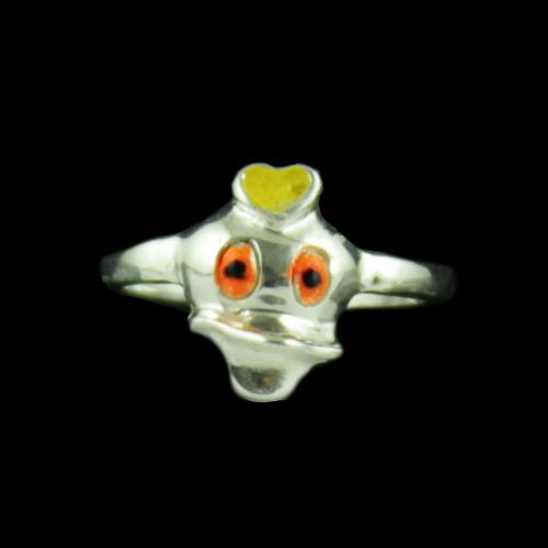 Silver Baby Donald Ring