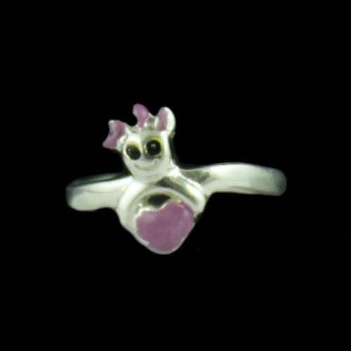 Silver Baby Toy Ring