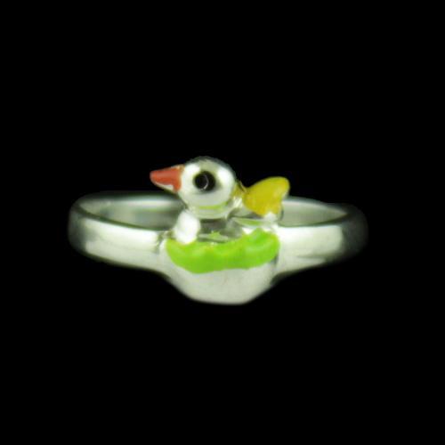 Silver Baby Bird Ring