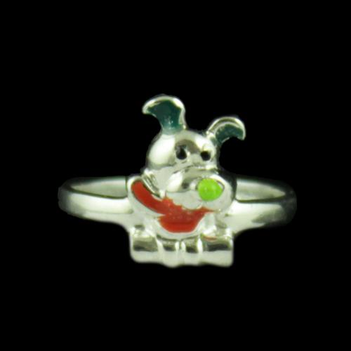 Silver Baby Teddy Ring
