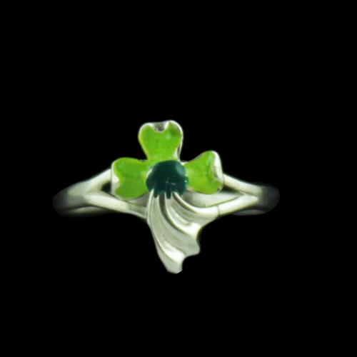 Silver Baby Flower Ring