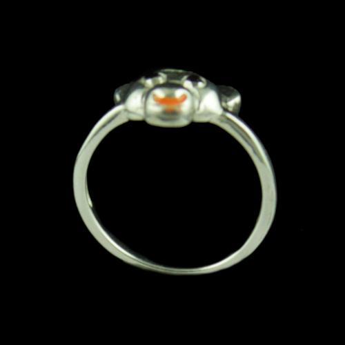 Silver Bear Baby Ring