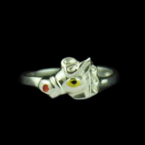 Silver Horse Baby Ring