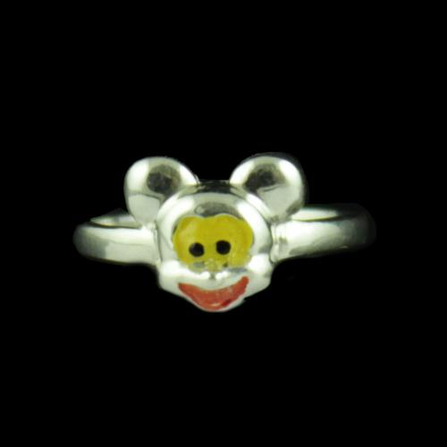 Silver Mickey Baby Ring