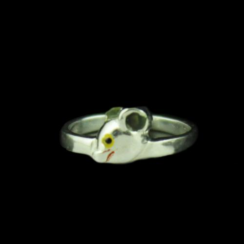 Silver Mouse Baby Ring