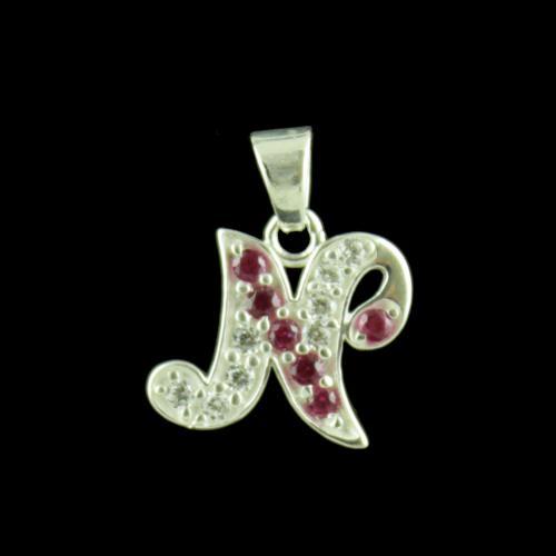 Alphabet N Silver Pendant