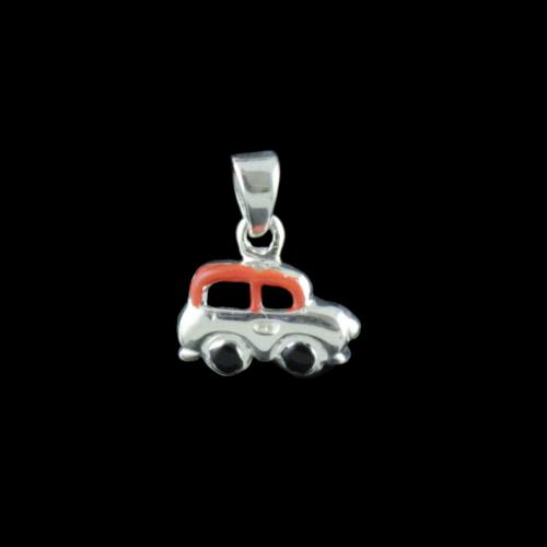 Silver Car Design Pendant