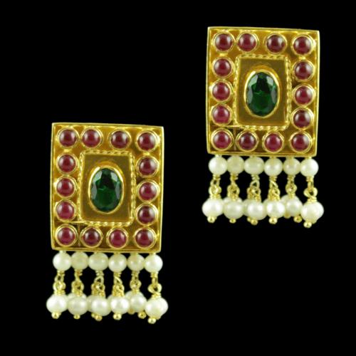 GOLD PLATED PEARL DROPS EARRINGS
