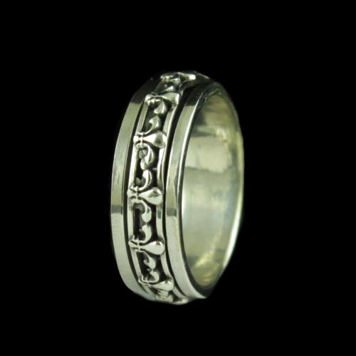 STERLING SILVER OM BAND RING