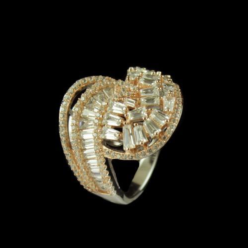 CZ STONE BRIDAL RING