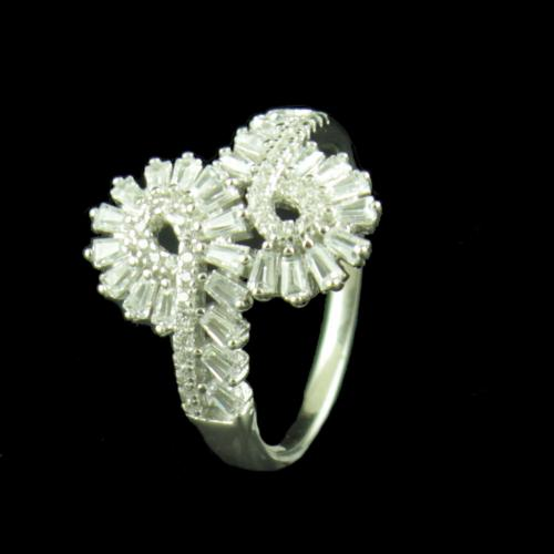 STERLING SILVER CZ STONE CASUAL RING