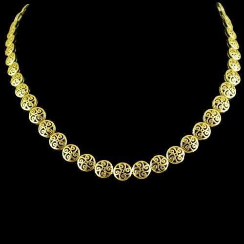 GOLD PLATED FLORAL DESIGN NECKLACE