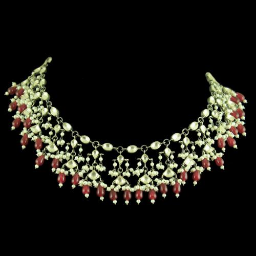 GOLD PLATED KUNDAN STONE THREAD NECKLACE
