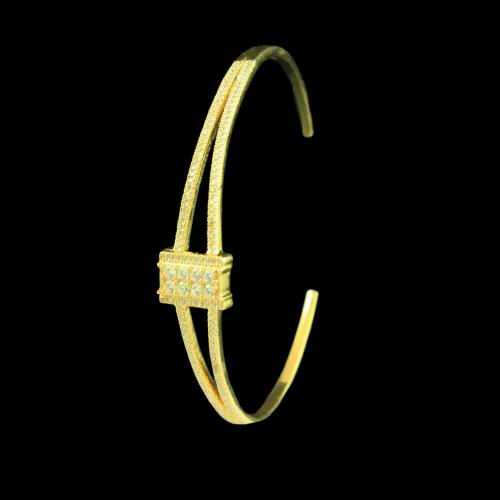 GOLD PLATED CZ STONES BANGLE