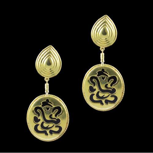 GOLD PLATED GANESHA EARRINGS