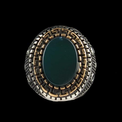 OXIDIZE GREEN ONYX RING