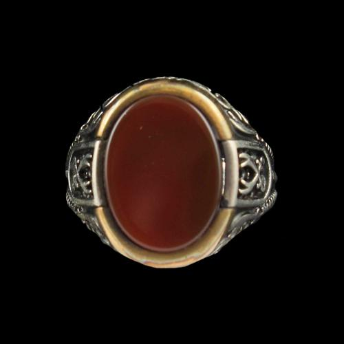 OXIDIZE RED ONYX RING